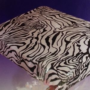 Other - Zebra print mink blanket